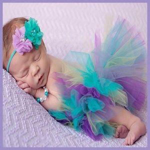Other - Newborn Multicolored Tutu & Headband Photo Prop